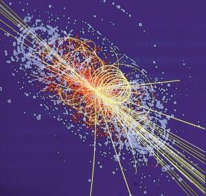 un choc de particules