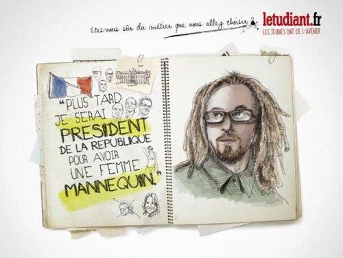 Publicité L'Etudiant: Stéréotype Femme de président