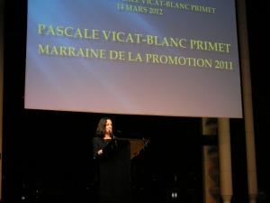Pascale Vicat-Blanc Primet, marraine de la promotion 2011